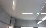 Натяжной потолок в автосервис